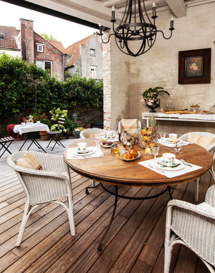 At bed and breakfast Maison Amodio in Bruges, you can not only have a romantic stay, but you can also have a delicious breakfast in the morning.
