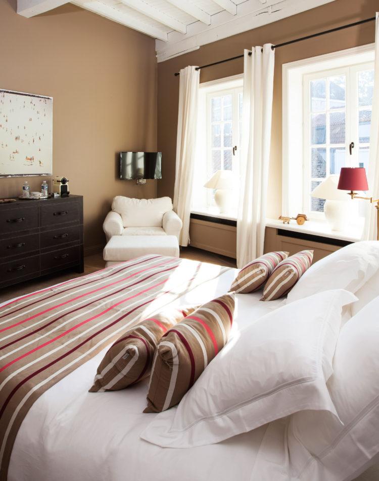 De Biarritz-kamer in bed and breakfast Maison Amodio in Brugge.